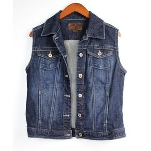 LEE Size Small Women's Cut off Denim Vest